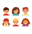 children avatars vector image
