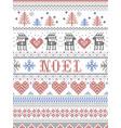 christmas pattern noel scandinavian style in cross vector image vector image