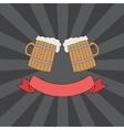 clink mugs logo vector image vector image