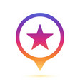 colorful star sign in circle pin icon vector image vector image