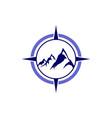 compass mountain abstract logo icon vector image vector image