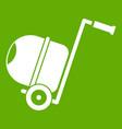 concrete mixer icon green vector image vector image