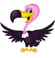 cute Vulture cartoon vector image vector image