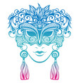 decorative mask silhouette vector image