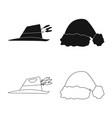 design of headwear and cap icon set of vector image vector image