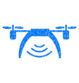 drone wifi repeater grunge icon vector image vector image