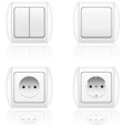 electric socket and switch vector image
