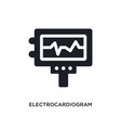electrocardiogram isolated icon simple element vector image vector image
