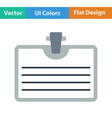 Flat design icon of Badge with clip vector image vector image