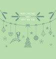geometric christmas card mint green design vector image vector image