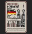 german travel landmarks and tourism vector image