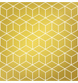 gold and white cube shape background pattern vector image vector image