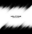 halftone dots grunge texture horizontal background vector image vector image