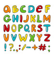 hand drawn english alphabet vector image