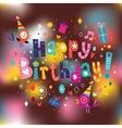 Happy Birthday card 13 vector image vector image