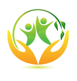 Healthy and happy people logo vector image vector image