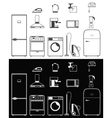 Icons of household appliances vector image
