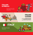 italy travel destination posters with national vector image vector image