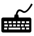 keyboard icon vector image vector image
