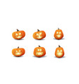 large set cartoon volumetric halloween vector image
