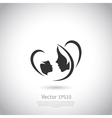 Logo mother and her baby vector image vector image