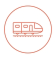 Modern high speed train line icon vector image vector image