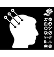 Neural Interface Connectors Icon With Tools vector image