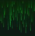 numbers matrix generated digital virtual reality vector image vector image