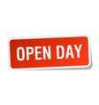 open day square sticker on white vector image vector image