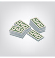 Pack of dollars vector image vector image
