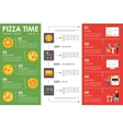 Pizza Time infographic elements Flat concept web vector image vector image