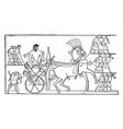 ramesses ii returning from syria is an egyptian vector image vector image