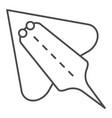 ramp fish thin line icon electric stingray vector image vector image