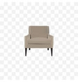 realistic armchair element of vector image vector image