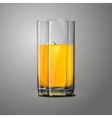 Realistic orange juice glass with ice Transparent vector image vector image