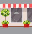 restaurant outdoor view exterior coffee shop vector image vector image