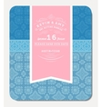 Retro Elegant Invitation Design vector image vector image