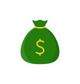 sack of money flat icon vector image vector image