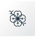 sakura flower icon line symbol premium quality vector image