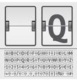 scoreboard alphabet vector image