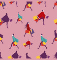 seamless pattern elegant and fashionable women vector image