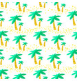 seamless pattern with palms background with vector image vector image