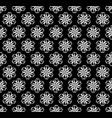 seamless symmetrical pattern of white shapes vector image