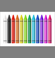 set a color crayon on white background vector image