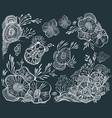 set decorative floral elements for design vector image vector image