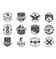 set of skateboard and longboard club badges vector image