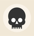skull icon on background vector image vector image