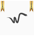 Snake flat icon vector image vector image