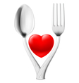 Spoon and fork vector image vector image