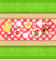 summer barbecue picnic background vector image vector image